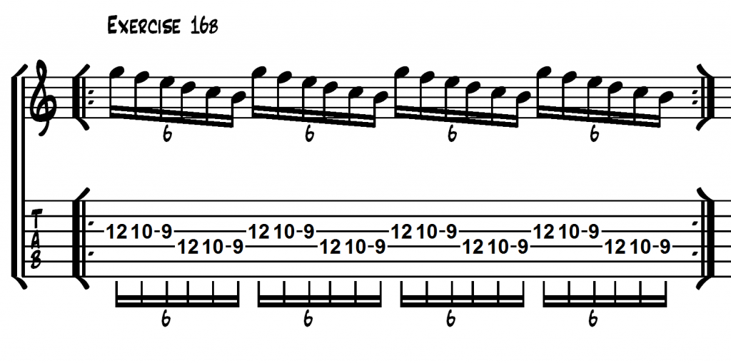 how to play 16th notes on guitar