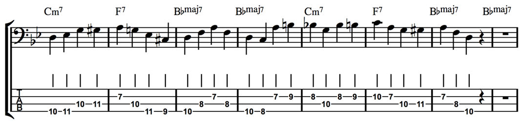 Jazz Bass Extended Arpeggios - Fundamental Changes Music
