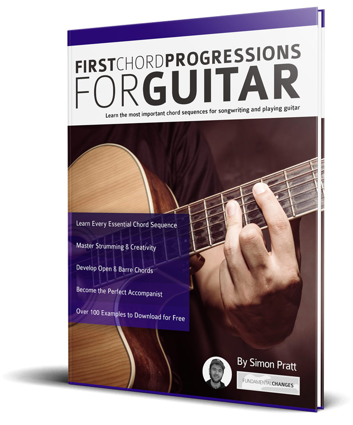 First Chord Progressions For Guitar 3d Fundamental Changes Music