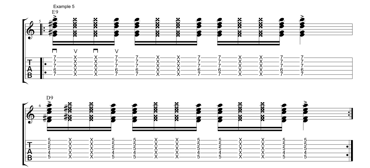 Funk Guitar James Brown E9 D9 Fundamental Changes Music Book