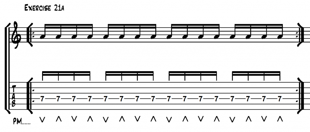How to Pick 16th Note Rhythms on Guitar - Fundamental