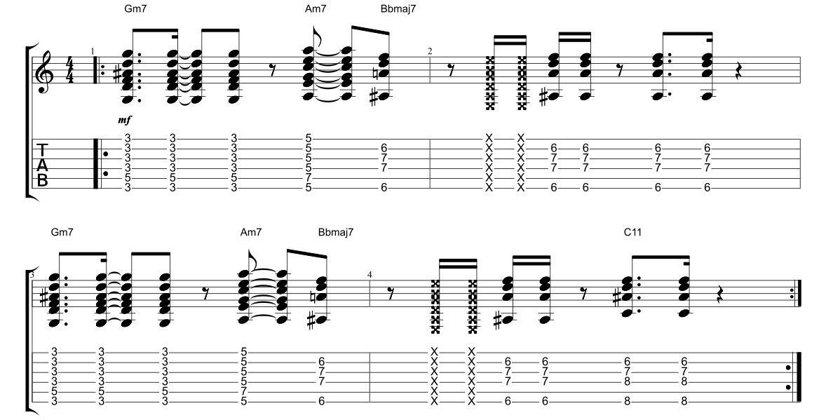 Play Funk Guitar – Lesson Nine - Fundamental Changes Music Book ...