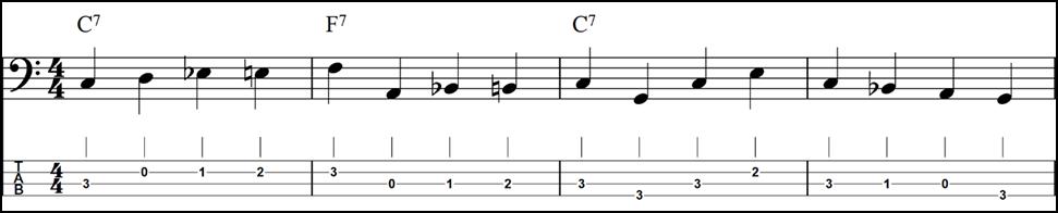 Walking bass lesson 3 - Jazz Blues - Fundamental Changes