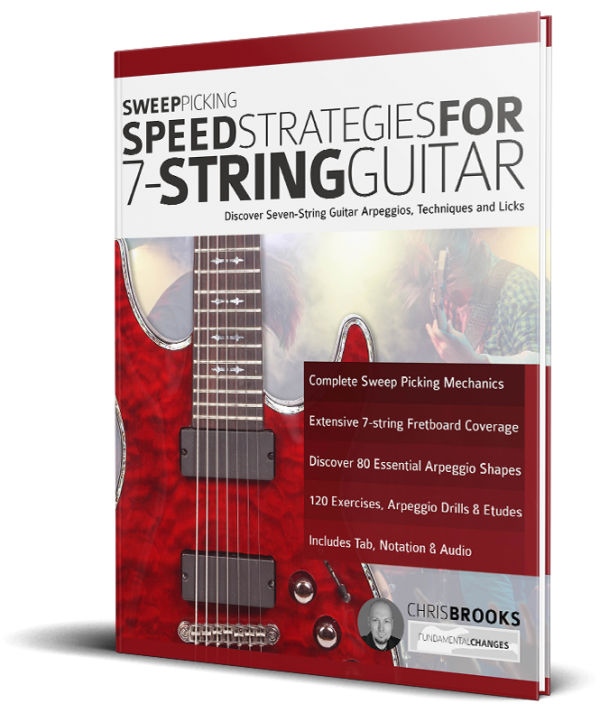 sweep picking strategies for 7-string guitar